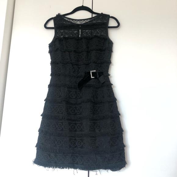 Vintage Dresses & Skirts - Vintage black lace shift dress